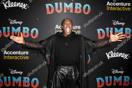 DeObia Oparei poses for the photographers as he arrives for the premiere of 'Dumbo' at the El Capitan Theater in Hollywood, California, 11 March 2019. The movie 'Dumbo' will start screening on 29 March 2019.