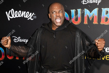 Stock Picture of DeObia Oparei poses for the photographers as he arrives for the premiere of 'Dumbo' at the El Capitan Theater in Hollywood, California, 11 March 2019. The movie 'Dumbo' will start screening on 29 March 2019.
