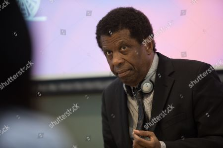 Haitian-Canadian novelist, journalist and member of the Academie franaise Dany Laferriere speaks during a talk at the University of Hong Kong in Hong Kong, China, 12 March 2019. Laferriere attended a literary event ahead of the International Francophonie Day which is celebrated on 20 March.
