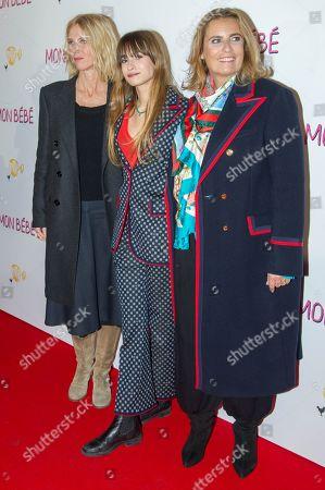 L-R) Sandrine Kiberlain, Thais Alessandrin and Lisa Azuelos
