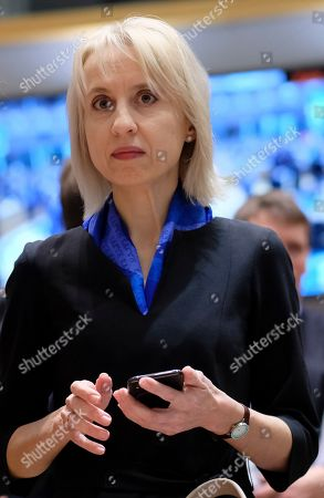 Stock Picture of Polish Minister of Finance Teresa Czerwinska during the European Finance Ministers' meeting in Brussels, Belgium, 12 March 2019.
