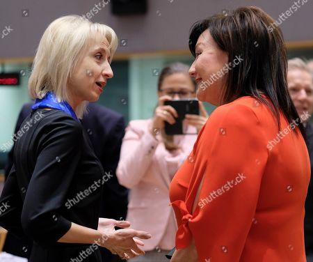 Editorial photo of EU Finance ministers meeting, Brussels, Belgium - 12 Mar 2019