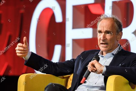 World Wide Web inventor Tim Berners-Lee delivers a speech during an event marking 30 years of World Wide Web, on March 12, 2019 at the CERN in Meyrin, near Geneva, Switzerland, 12 March 2019.