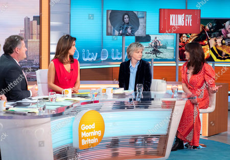 Piers Morgan and Susanna Reid with Karin Slaughter and Beverley Turner
