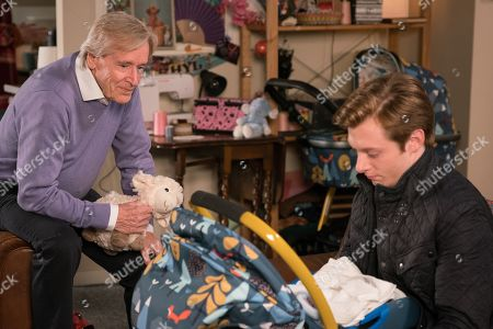Ep 9728 Friday 29th March 2019 - 1st Ep Ken Barlow, as played by William Roache, Adam Barlow, as played by Sam Robertson