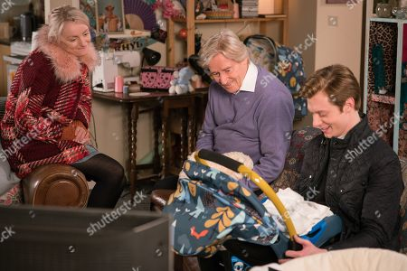 Ep 9728 Friday 29th March 2019 - 1st Ep Sinead Tinker, as played by Katie McGlynn, Ken Barlow, as played by William Roache, Adam Barlow, as played by Sam Robertson
