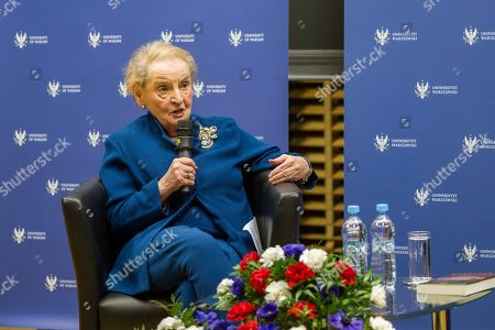 Editorial picture of Madeleine Albright inaugurates Zbigniew Brzezinski Memorial Lecture Series, Warsaw University, Poland - 08 Mar 2019
