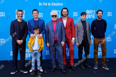 Leonardo Sbaraglia, Antonio Banderas, Pedro Almodovar, Asier Etxeandia, Julian Lopez, Asier Flores, Cesar Vicente
