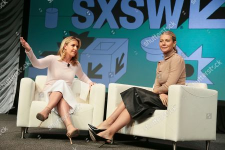 Poppy Harlow, Gwyneth Paltrow. Poppy Harlow, left, talks with Gwyneth Paltrow during a featured session at the South by Southwest Film Festival, in Austin, Texas