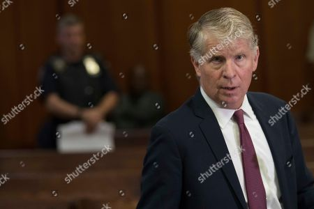 Manhattan District Attorney, Cyrus Vance, Jr., speaks to reporters after a hearing in Manhattan criminal court in New York. Languishing evidence in over 100,000 sexual assault cases around the country has been sent for DNA testing with money from the New York prosecutor and federal authorities, and the effort has spurred over 1,000 arrests and hundreds of convictions so far. That's according to a report released by Vance Jr. and data provided by the federal Department of Justice