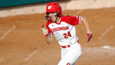 Villanova vs Wisconsin. Wisconsin infielder Lauren Foster during an NCAA softball game on in Clearwater, Fla