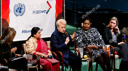 Editorial image of 'Women in Power' at the United Nations, New York, USA - 12 Mar 2019