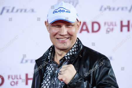 Former box champion Axel Schulz arrives for the European premiere of 'Head Full of Honey' in Berlin, Germany, 12 March 2019. The movie screens in German theaters from 21 March on.