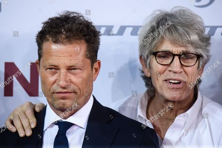 Til Schweiger (L) and US actor Eric Roberts arrive for the European premiere of 'Head Full of Honey' in Berlin, Germany, 12 March 2019. The movie screens in German theaters from 21 March on.