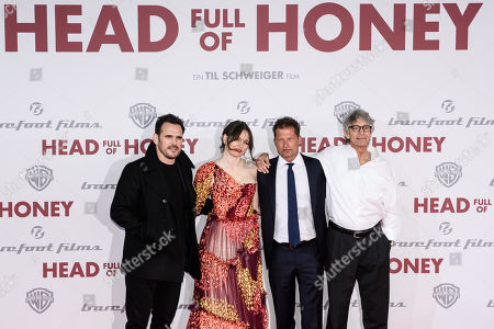 Matt Dillon, British actress Emily Mortimer, German actor and director Til Schweiger and US actor Eric Roberts arrive for the European premiere of 'Head Full of Honey' in Berlin, Germany, 12 March 2019. The movie screens in German theaters from 21 March on.