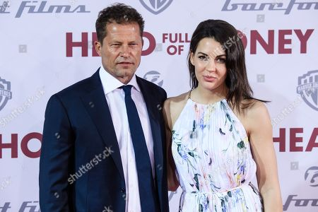 Til Schweiger (L) and German actress Anna-Lea Mende (R) arrive for the European premiere of 'Head Full of Honey' in Berlin, Germany, 12 March 2019. The movie screens in German theaters from 21 March on.