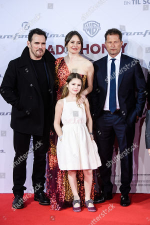 Emily Mortimer (C-back) and her daughter May Rose Nivola (C-front), US actor Matt Dillon (R) and German actor and director Til Schweiger (R) arrive for the European premiere of 'Head Full of Honey' in Berlin, Germany, 12 March 2019. The movie screens in German theaters from 21 March on.