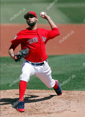 Boston Red Sox starting pitcher David Price works in the second inning of a spring training baseball game against the Detroit Tigers, in Fort Myers, Fla