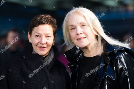 Gabrielle Tana (L) and guest attend the UK premiere of 'The White Crow' at Curzon Mayfair in London, Britain, 12 March 2019. The movie is released in British theaters on 22 March.