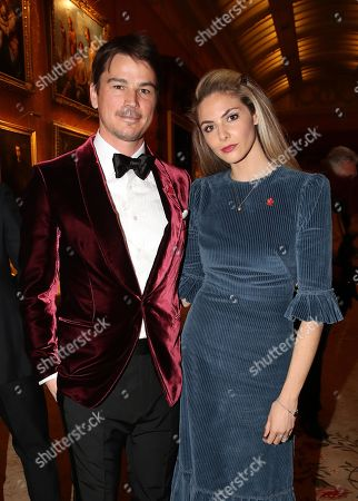 Stock Image of Josh Hartnett and Tamsin Egerton attend a dinner to celebrate The Prince's Trust