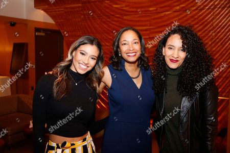 Stock Photo of Kara Royster, Leslie K. Johnson and Sophia Brownduring the August Wilson Monologue Competition Los Angeles Regional Finals at Center Theatre Group/Mark Taper Forum on March 11, 2019, in Los Angeles, California. (Photo by Ryan Miller/Capture Imaging)