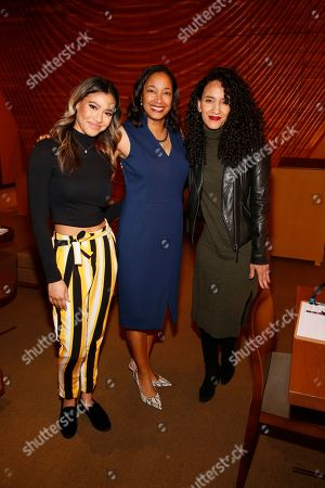 Stock Image of Kara Royster, Leslie K. Johnson and Sophia Brownduring the August Wilson Monologue Competition Los Angeles Regional Finals at Center Theatre Group/Mark Taper Forum on March 11, 2019, in Los Angeles, California. (Photo by Ryan Miller/Capture Imaging)