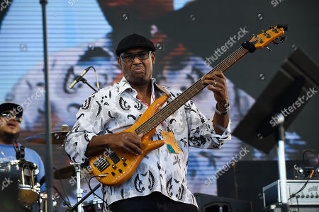 Stock Photo of Gerald Veasley performs at 'Jazz In The Gardens' at Hard Rock Stadium on Sunday, March 10, 2019 in Miami Gardens, Fla.
