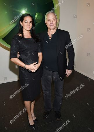 Stock Image of Tania Wahlstedt, Ian Schrager. Hotelier Ian Schrager and wife Tania Wahlstedt arrive at the grand opening of The Times Square Edition hotel, in New York