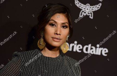 Rain Valdez arrives at the 2019 Marie Claire Change Makers Celebration on in West Hollywood, Calif