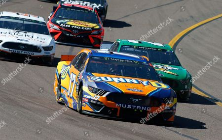 Ricky Stenhouse Jr. (17) drives during the NASCAR Cup Series auto race at ISM Raceway, in Avondale, Ariz