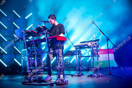 Stock Picture of Mike Shinoda performs during his concert in Papp Laszlo Budapest Sports Arena in Budapest, Hungary, 12 March 2019.