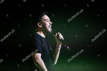 Editorial image of American singer and songwriter Mike Shinoda performs in Budapest, Hungary - 12 Mar 2019