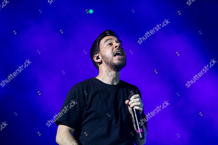 Mike Shinoda performs during his concert in Papp Laszlo Budapest Sports Arena in Budapest, Hungary, 12 March 2019.
