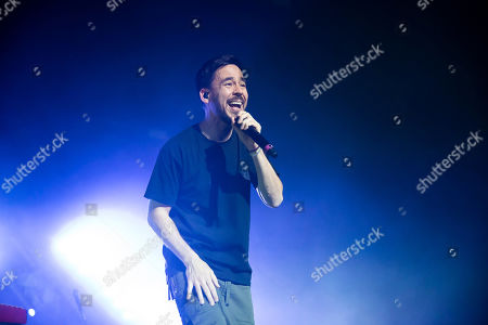 Editorial picture of American singer and songwriter Mike Shinoda performs in Budapest, Hungary - 12 Mar 2019