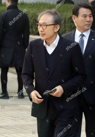 Editorial photo of Former South Korean President Lee attends first trial after being released on bail, Seoul, Korea - 13 Mar 2019