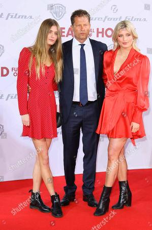 Til Schweiger with daughters Lilly Schweiger and Luna Schweiger