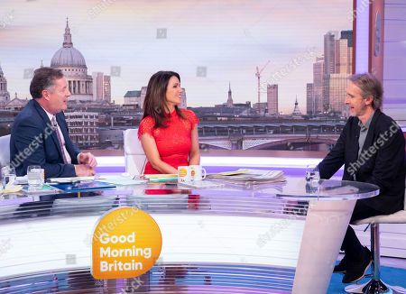 Piers Morgan and Susanna Reid with Mike Rutherford