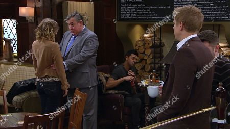 Ep 8426 & Ep 8427 Tuesday 26th March 2019 Charity Dingle, as played by Emma Atkins, Robert Sugden, as played by Ryan Hawley ; Aaron Livesy, as played by Danny Miller