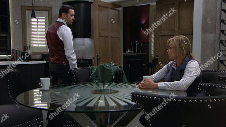 Ep 8424 Thursday 21st March 2019 - 1st Ep Graham Foster, as played by Andrew Scarborough, Noah Dingle, as played by Jack Downham, Claire King as Kim Tate