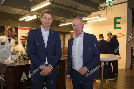 Co-Tainer Jens Lehmann (FC Augsburg) and Geschaeftsfuehrer Sport Stefan Reuter (FC Augsburg), Casino Night FC Augsburg, 13.03.2019