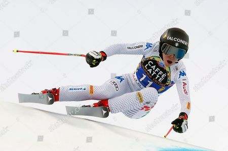 Sofia Goggia of Italy in action during Women's downhill race of the FIS Alpine Skiing World Cup finals in Soldeu - El Tarter, Andorra, 13 March 2019.