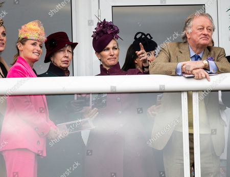 L to R Dolly Maude, Princess Anne, Zara Tindall, Andrew Parker Bowles.