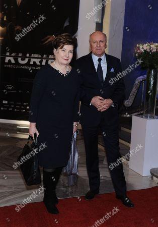 Former Mayor of Warsaw Hanna Gronkiewicz Waltz with husband