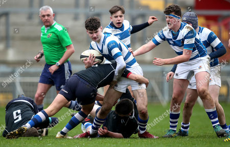 Stock Image of Crescent College vs Rockwell College. Crescent's John Lyons and Rory Collins of Rockwell