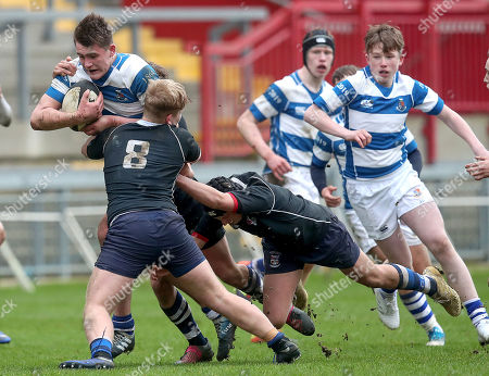 Crescent College vs Rockwell College. Rockwell's Brian Gleeson and Conal Henchy of Crescent