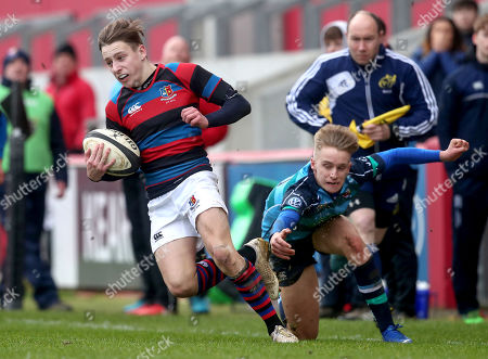 Castletroy College vs St. Munchin's. St. Munchin's Ryan Naughton and Gavin Rowsome of Castletroy