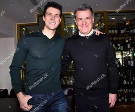 Italian ballet dancer Roberto Bolle (L), Etoile dancer at Milan's La Scala Theatre Ballet, and Sky Arte director Roberto Pisoni (R) pose for a photo prior to a press conference on the Sky Arte TV program 'Questa notte mi hai aperto gli occhi' (lit.: You opened my eyes tonight), in Milan, Italy, 13 March 2019.  The four-part documentary will start broadcasting from 16 March on.