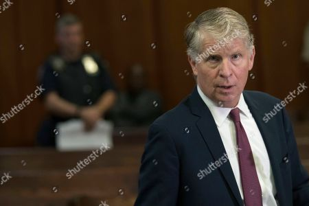 Manhattan District Attorney, Cyrus Vance, Jr., speaks to reporters after a hearing in Manhattan criminal court in New York. After being sentenced in federal court in Washington D.C. earlier in the day, Paul Manafort was also charged Wednesday with mortgage fraud, conspiracy and other counts in a new indictment in New York City. The state charges appear at least partly designed to guard against the possibility that he could be pardoned by President Donald Trump and freed early on his federal convictions. The presidential power does not extend to state charges