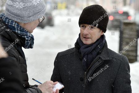 Stock Image of Jens Weissflog arrives