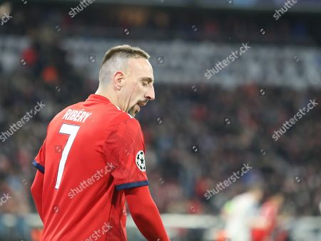 Frank Ribery of Bayern Munich disappointed during the Champions League round of 16, leg 2 of 2 match between Bayern Munich and Liverpool at the Allianz Arena stadium, Munich
